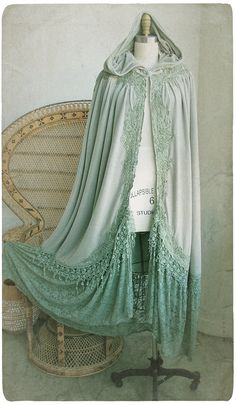 This is soo pretty! We just got a couple more cloak patterns the other day, so as soon as I find more fabric, we'll be making me another cloak. Two more actually...Maybe three ;)