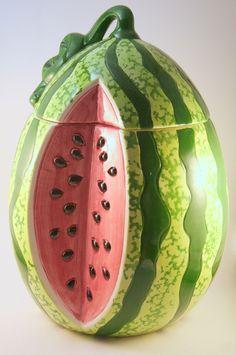 "New in Box Watermelon Cookie Jar 10"" High   eBay"