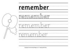 Use these Remembrance Day worksheets in the classroom or home. We've tried to provide something for all ages from early learners up. Teaching Strategies, Teaching Resources, Printable Handwriting Worksheets, Remembrance Day Activities, Social Studies, Literacy, Kindergarten, Preschool, Learning