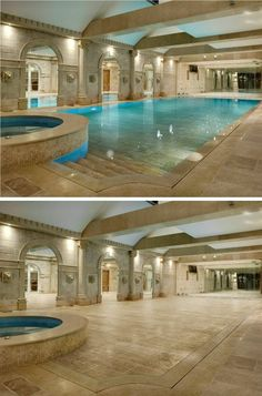 Disappearing pool with Movable Floor by Hydrofloors