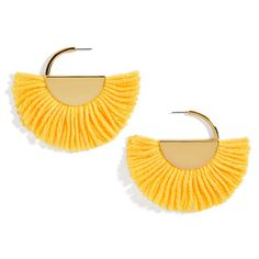 BaubleBar Bonita Drop Earrings-Yellow (2,660 INR) ❤ liked on Polyvore featuring jewelry, earrings, gold fringe earrings, yellow gold earrings, baublebar jewelry, baublebar earrings and yellow gold drop earrings