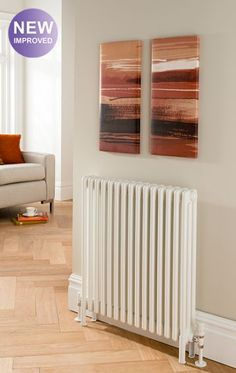 Ancona with slip on welded feet, 3 column, 10 sections, high, shown with Ideal TRV valves Home, Column Radiators, New Homes, Heated Towel, House, Towel Rail, Radiator Heating, Hydronic Heating, Hydronic Heating Systems