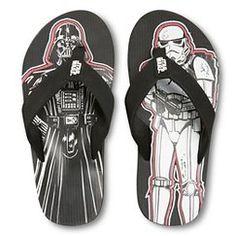 Boy's Star Wars Flip Flop Sandals - Black