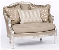 Silver sizzle hot settee.