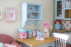Gorgeous Little Shabby Chic Wall Shelf for your Dollhouse. $22.00, via Etsy.