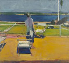 Richard Diebenkorn, Figure on a Porch, 1959. Oil on canvas, 57 x 62 inches. Oakland Museum of California,