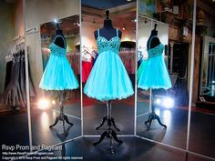This dress has a beaded top and straps and a tulle skirt, and it's at Rsvp Prom and Pageant, your source of the HOTTEST Prom and Pageant Dresses!