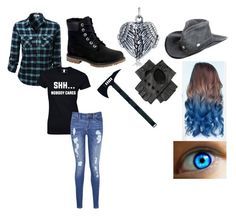 """""""Untitled #42"""" by miahorse on Polyvore featuring Timberland, Tommy Hilfiger, Bling Jewelry, Overland Sheepskin Co. and Black"""