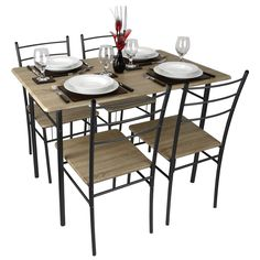 Buy The Oslo Cm Black High Gloss Stowaway Dining Table And Chairs - Quality kitchen table and chairs