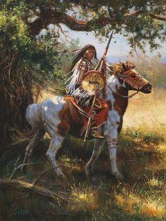 Blackfeet Strength by Dan Oelze kK Native American Horses, Native American Warrior, Native American Paintings, Native American Pictures, Native American Quotes, Native American Symbols, Native American Beauty, Native American Artists, American Indian Art
