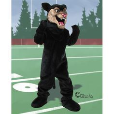 840 00 your new panther mascot costume will strut its stuff for your