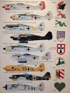 1939-49 Focke-Wulf FW 190. Luftwaffe, HAF, TAF - Fighter. Engine: Junkers Jumo 213 A-1, 12 cyl inverted-Vee piston engine, 1,287 kW (1,750 PS) or 1,544 kW (2,100 PSS) with boost. Armament: 2 x 13 mm (.51 in) MG 131 machine guns, 2 x 20 mm MG 151 cannons in the wing root, 1 x 500 kg (1,102 lb) SC 500 bomb (optional). Max Speed: 685 km/h (426 mph) @ 6,600 m (21,655 ft), 710 km/h (440 mph) @11,000 m (36,000 ft)