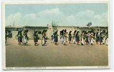 Harvest Dance Native American Indian Pueblo Santo Domingo New Mexico postcard