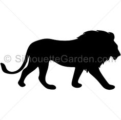 Lion silhouette clip art. Download free versions of the image in EPS, JPG, PDF, PNG, and SVG formats at http://silhouettegarden.com/download/lion-silhouette/