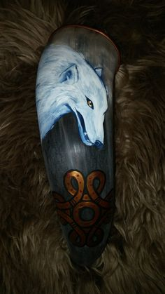 Drinking horn  From the Land of Ice and Snow by badgercreekstudio on Etsy