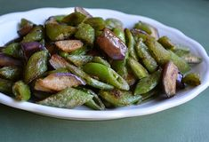 A new way with snap peas -- sear them with Chinese eggplant and season the veggies with fermented tofu.