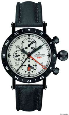 Chroniswiss Chronograph GMT Two Time Zone Watch is a Traveler's Dream #watches trendhunter.com