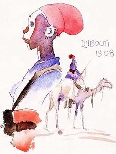 Hugo Pratt - Obock (1994) - Djibouti Comic Book Artists, Comic Artist, Comic Books Art, Illustrations, Illustration Art, Hugo Pratt, Maltese, Book Creator, Fable