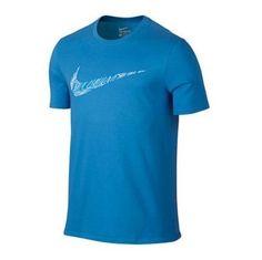 Nike Mens Swoosh Topograph Training Athletic Cut Blue T-Shirt XL 806280-435 #Nike #ShirtsTops