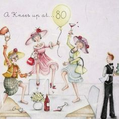 Cards » A Knees up at 80 » A Knees up at 80 - Berni Parker Designs
