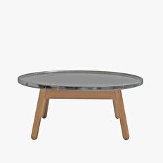 CARVE CIRCULAR COFFEE TABLE (GREY+OAK)