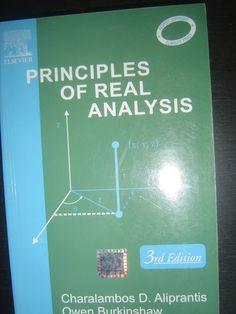 Principles Of Real Analysis von Charalambos Aliprantis Map, Mathematics, Location Map, Maps