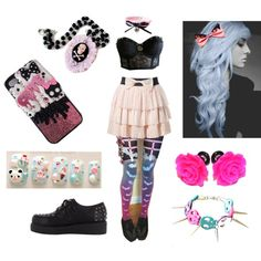 """""""pastel goth"""" by fernplant on Polyvore"""