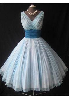 1950s Vintage Short Light Sky Blue Homecoming Dresses (ED1101)