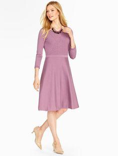 Talbots - Mixed Rib Merino Sweater Dress | Dresses |