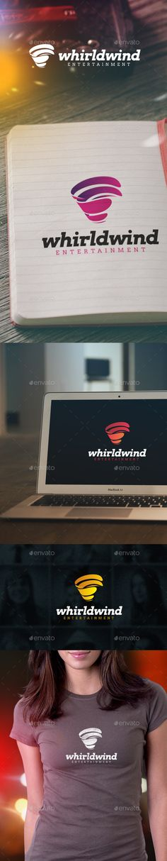 Whirlwind Entertainment Logo — Vector EPS #multimedia #blue • Available here → https://graphicriver.net/item/whirlwind-entertainment-logo/9338174?ref=pxcr