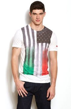 Save $10.00 on Armani Exchange Mens Italia Americano Tee; only $38.00