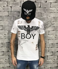 T-SHIRT BOY LONDON BIANCA UOMO ART.BL686-WHT Boy London, Street Style, Boys, Mens Tops, T Shirt, Shopping, Art, Fashion, Baby Boys