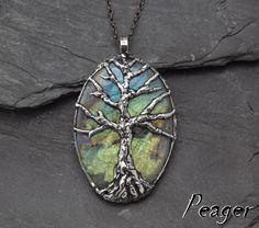 Tree Labradorite PendantStatement necklacemulticolor