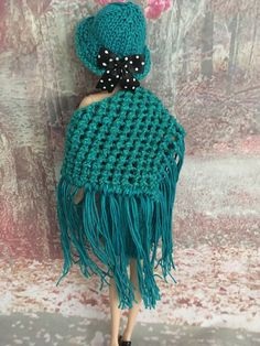 hand knitted barbie doll clothes/ Outfit
