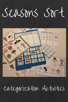 Work on categorization skills and vocabulary with this variety of activities to do with seasons of the year.