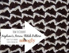 How to Crochet the Neptune's Arrow Stitch Pattern - right and left handed video tutorials on Moogly!