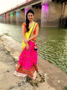 Sreemukhi at Krishna Pushkaralu Photos Beautiful Saree, Beautiful Indian Actress, Beautiful Actresses, Beautiful Flowers, Indian Girl Bikini, Indian Girls, Beauty Full Girl, Beauty Women, Hollywood Actress Photos