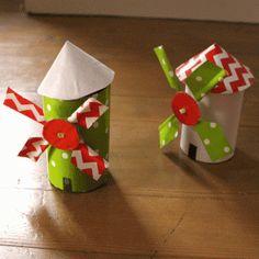 Fabriquez avec des objets à recycler un joli moulin à vent. Découvrez d'autres ateliers ludiques sur C-MonEtiquette !