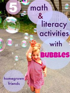 5 Math and Literacy Activities with Bubbles