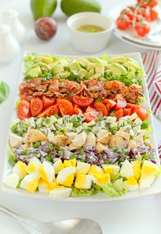 Sałatka Cobb Big Mac Salat, South Beach Diet, Cooking Recipes, Healthy Recipes, Aga, Food Art, Cobb Salad, Cake Recipes, Grilling