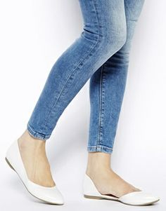 Enlarge New Look Jepson White Two Part Flat Shoes