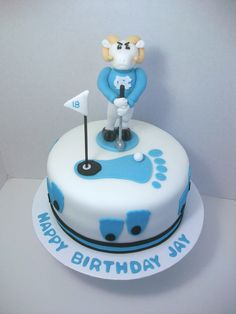 UNC Golfing Ramses Cake