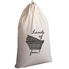 Laundry Bag Loads of Fun by badbatdesigns on Etsy, $25.00