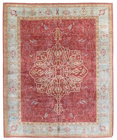 Oushak Rugs Gallery: Oushak Rug, Hand-knotted in Turkey; size: 10 feet 7 inch(es) x 12 feet 4 inch(es)