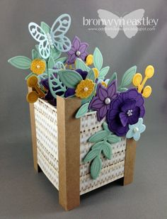 Falling Flowers Planter Box Card