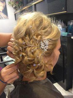 Allie's wedding hair do.