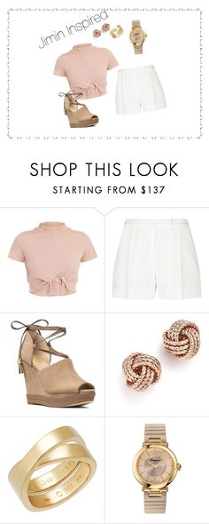 """""""BTS INSPIRED OUTFITS"""" by btsmyhearteu on Polyvore featuring Elie Saab, MICHAEL Michael Kors, Bloomingdale's, Cartier and Salvatore Ferragamo"""