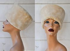 Genuine Fur Russian Hat Mid Century Hat 50s 60s by LaDeaDeiSogni