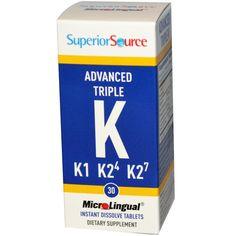 Superior Source, Advanced K, 30 MicroLingual Instant Dissolve Tablets