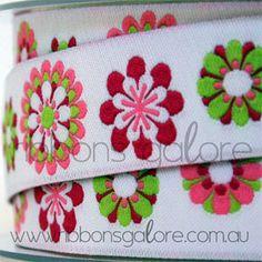 pink & lime ribbon
